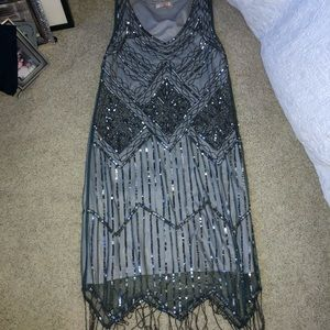 gorgeous beaded flapper style dress